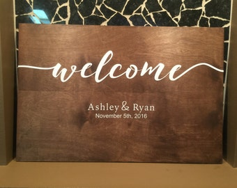 Wedding welcome and thank you sign