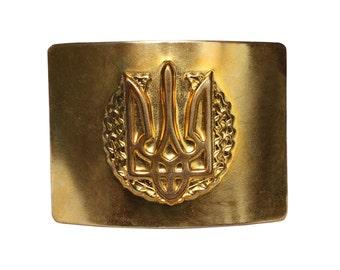 Ukrainian soldier's buckle for belt with the emblem of Ukraine
