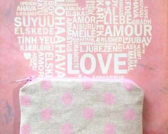 Pink Polkadots Cute Coin Purse