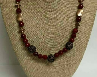 Ruby and Copper Jewelry Set