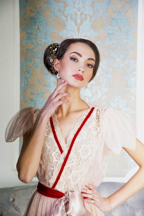 blush bridal robe Style 1602R wedding robe by ...
