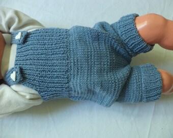 short bib baby 62/68 Merino Wool knit pants baby pants