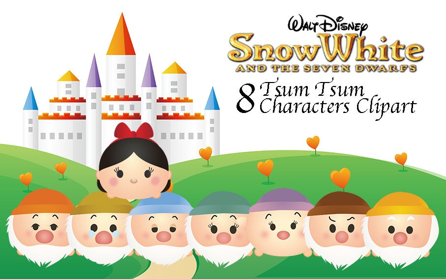 Snow White Amp 7 Dwarfs Tsum Tsum Characters 8 High Resolution
