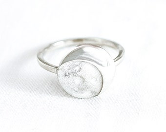 Ring Bright Silver MOON