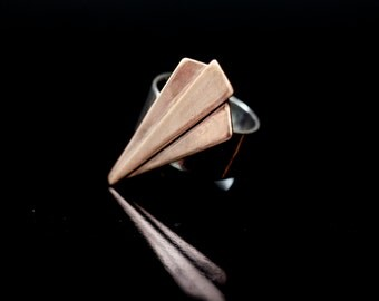 ring copper and silver - sleek design art déco