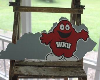 University/College state cutout WKU