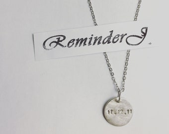 925 silver necklace engraved name