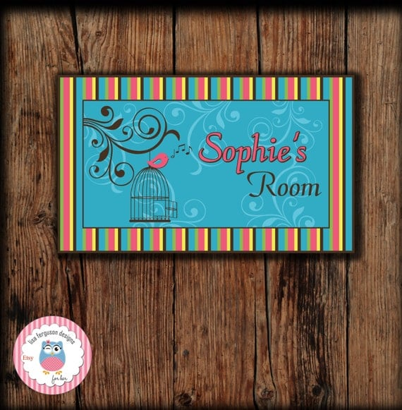 Personalized Music Bedroom Door Sign For Kids