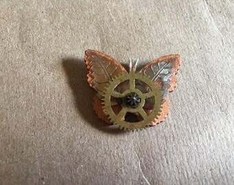 Brass Gear Butterfly