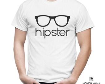 Hipster glassess trendy hip boys guys girls tee shirt