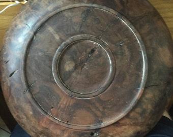 Vintage spalted walnut Burl bowl