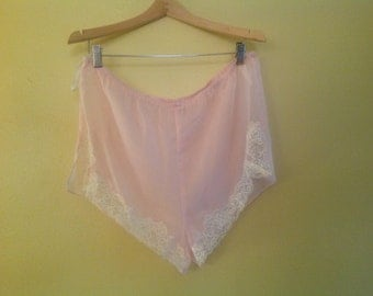 Vintage Sheer Pink Lacy Knickers