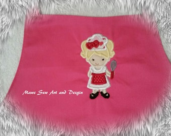 Childs Apron, Chef, Pink