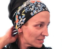Cool and fresh Head Cover,Tichel,Chemo,Lycra,Floral,Cotton,Snood,Jewish,head covering,Head scarf,Head wrap,Bandana,Apron,Sinar,Mitpachat