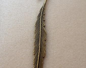 Antique Bronze Leaf Bookmark Hook (Pack of 5)