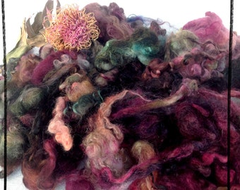 Curls by the Wensleydale sheep hand dyed