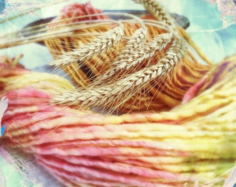Hand-spun yarn Artyarn knitting wool effect wool yarn Shetland