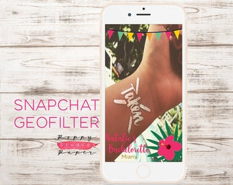 Custom Snapchat Geofilter Bachelorette Party Snapchat Geofilter, Tropical Snapchat Geofilter, Birthday Snapchat Geofilter