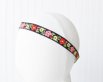 Embroidered flower Headband