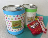 Pop-top Birthday-in-a-Can, includes candy, fun and unique mail