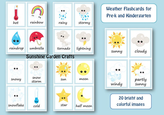 Weather Small Flashcards Posters Images By