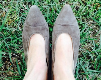 Vintage Via Spiga Pump, Vintage 80's Shoe, Via Spiga Heel, Vintage Suede Heel, 80's Vintage