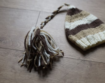 RTS Brown woolen pixie hat