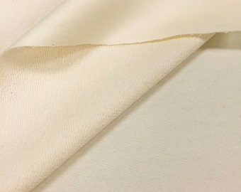 French Terry Fabric (Wholesale Price Available By the Bolt) USA Made Premium Quality - 6018 Natural - 1 Yard