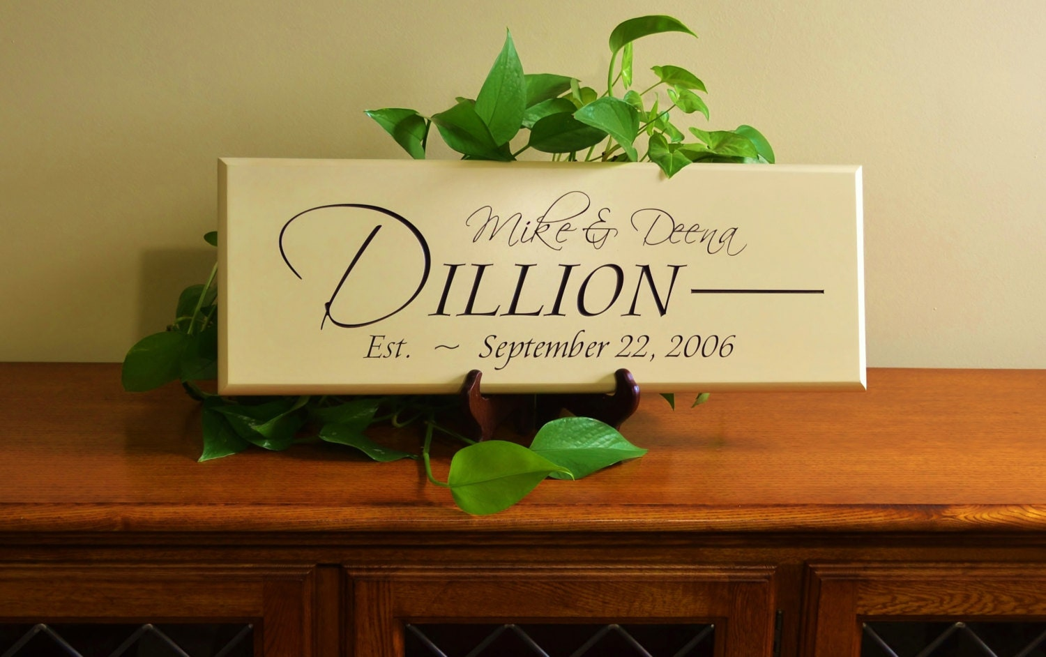 Modern Family Name Wall Decor Ensign - The Wall Art Decorations ...