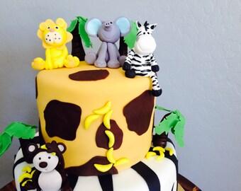 Safari Fondant Cake topper