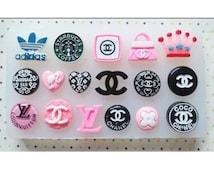 DESIGNER LOGOS Silicone Cake Decorating Mould, Chocolate, Candy, Soap, Sugar Craft, Fondant, Cupcake, Baking, Tools.