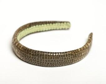 Padded headband Snake print headband