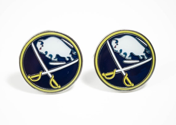 Buffalo Sabres Cuff Links -- FREE SHIPPING with USPS First Class Domestic Mail