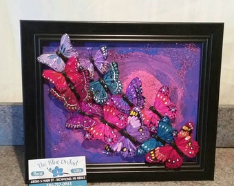 Multidimensional Butterfly 8x10 Picture Frame