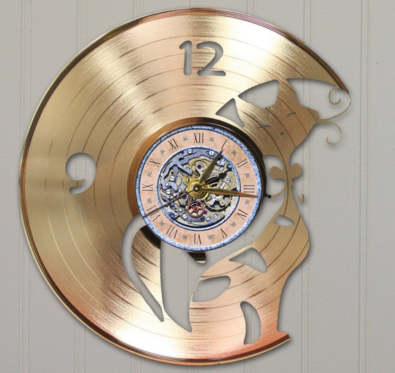 Laser Cut Gold Platinum: Cat Laser Cut Gold Platinum Or Black Vinyl LP Record By