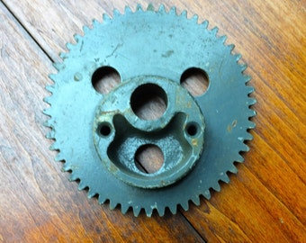 Vintage Steel Gear/Sprocket with a Face