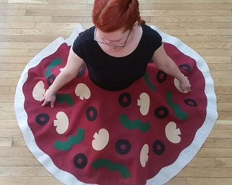 1950s Style Pizza Circle Skirt