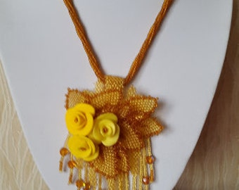 Handmade Fimo necklace