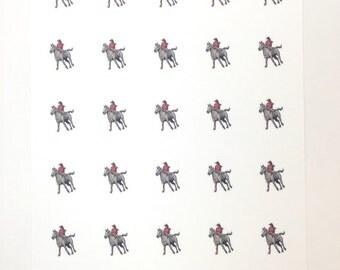 30 Horseback Riding Stickers /  Planner Stickers / Erin Condren Planner Stickers
