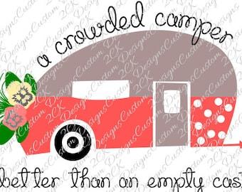A Crowded Camper SVG File