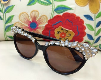 The Bling Bling Sunglasses with Rhinestones