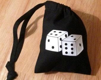 DICE Cotton Drawstring BAG Storage Dice Gift  xmas Board GAME New