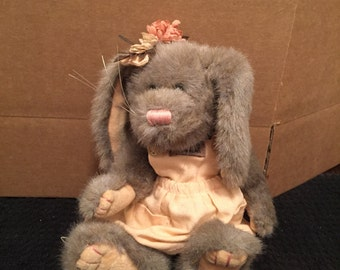 Boyds Bear Bunny Wearing Dress