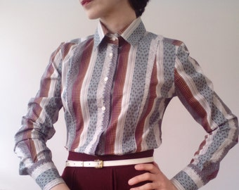Original multicoloured print patterned Etro cotton shirt.