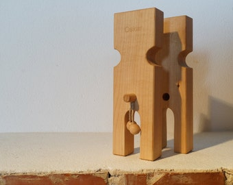 Pair Maple personalized you & me wooden figurines