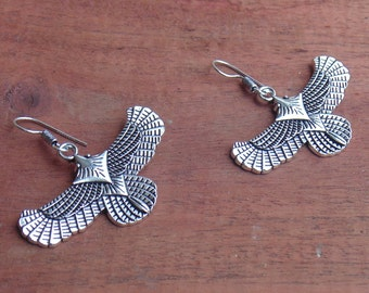Eagle Earring | Oxidised Earring | Silver Plated Earring | Handmade Earring | Bird Earring | Indian Tribal Earring | Gypsy Boho Earring |E17