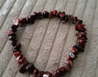 Gemstone Chip Elasticated Bracelet