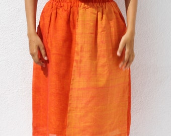 Handwoven gathered skirt