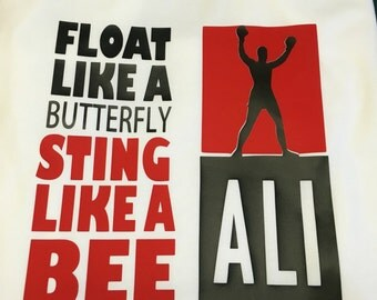 float like a butterfly sting like a bee, Ali t shirt, Ali tee