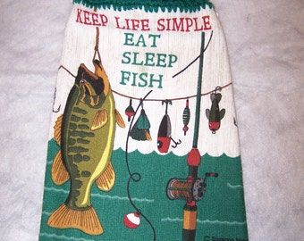 Hanging Fisherman Kitchen Towel